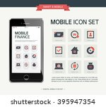 vector finance simple icon set | Shutterstock .eps vector #395947354