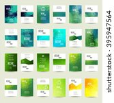 colorful summer brochure set of ... | Shutterstock .eps vector #395947564