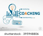coaching and marketing concept. ... | Shutterstock .eps vector #395948806