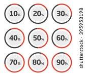 template pie chart percent   Shutterstock .eps vector #395953198