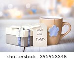 father's day holiday greeting... | Shutterstock . vector #395953348