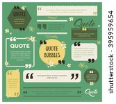 set of modern quote bubbles... | Shutterstock .eps vector #395959654