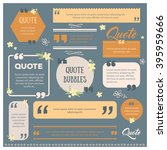 set of modern quote bubbles ... | Shutterstock .eps vector #395959666