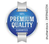 blue premium quality badge ... | Shutterstock .eps vector #395960254
