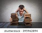 desperate student | Shutterstock . vector #395962894