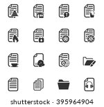 documents icon set for web... | Shutterstock .eps vector #395964904
