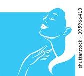 woman vector symbol design...   Shutterstock .eps vector #395966413
