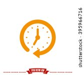clock icon vector. | Shutterstock .eps vector #395966716