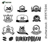 50th years anniversary label... | Shutterstock .eps vector #395975344
