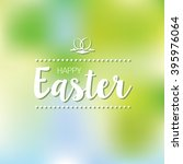 happy easter card with spring... | Shutterstock .eps vector #395976064
