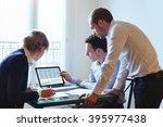 teamwork  business meeting ... | Shutterstock . vector #395977438