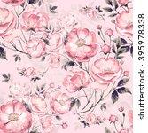 Seamless Pattern Of Wild Rose ...