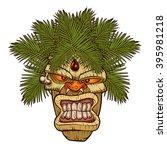 illustration of a tiki totem. | Shutterstock .eps vector #395981218