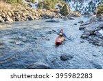 Senior Kayaker In A Whitewater...