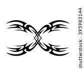 tattoo tribal lower back vector ...   Shutterstock .eps vector #395983144