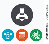 bee sign icon. honeybee or apis ... | Shutterstock .eps vector #395993218