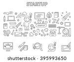 line design concept web banner... | Shutterstock . vector #395993650