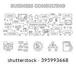 line design concept web banner... | Shutterstock . vector #395993668
