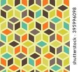 vector modern seamless colorful ... | Shutterstock .eps vector #395996098