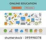 linear design concept web... | Shutterstock . vector #395998378
