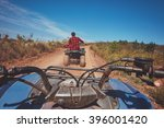 View From A Quad Bike In Natur...