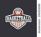 sport basketball logo. american ... | Shutterstock .eps vector #396003088
