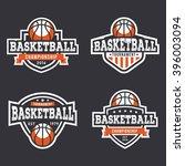 set of sport basketball logo.... | Shutterstock .eps vector #396003094