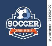 sport soccer logo. american... | Shutterstock .eps vector #396003400