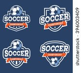 set of sport soccer logo.... | Shutterstock .eps vector #396003409