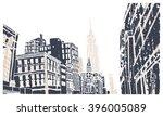 scene street illustration. hand ... | Shutterstock .eps vector #396005089