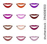 vector lips set. | Shutterstock .eps vector #396008503