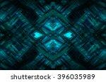 abstract blue fractal... | Shutterstock . vector #396035989