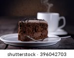 Piece Of Chocolate Cake And A...