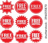 free shipping signs set  free... | Shutterstock .eps vector #396055870