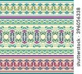 ethnic geometric print.... | Shutterstock .eps vector #396056338