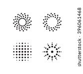 abstract circular halftone dots ... | Shutterstock .eps vector #396061468