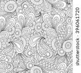 vector doodle wavy seamless... | Shutterstock .eps vector #396061720