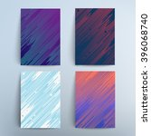 brochure covers design set. 2d... | Shutterstock .eps vector #396068740