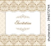 vintage invitation template... | Shutterstock .eps vector #396073744