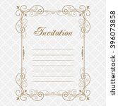 elegant luxury vintage... | Shutterstock .eps vector #396073858