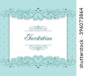 vintage invitation template... | Shutterstock .eps vector #396073864
