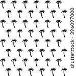 palm tree seamless pattern in... | Shutterstock .eps vector #396097000