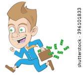 businessman cartoon running... | Shutterstock .eps vector #396101833