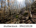 Rock Steps On Hiking Path Trai...
