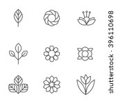 floral icons set. design... | Shutterstock .eps vector #396110698