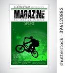 cover sport active magazine ... | Shutterstock .eps vector #396120883