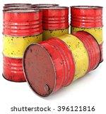 A Rusted Oil Barrel Isolated O...