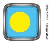 3d button flag of palau. vector ...   Shutterstock .eps vector #396124030