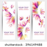 set of three banners  abstract... | Shutterstock .eps vector #396149488