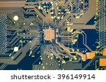 the printed circuit board with... | Shutterstock . vector #396149914
